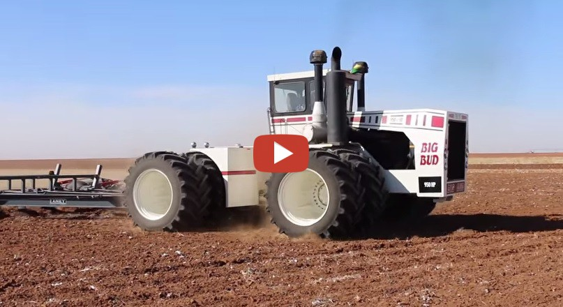 Big bud tractor runs on dual 1100 goodyear lsw tires for Big tractor tires for free
