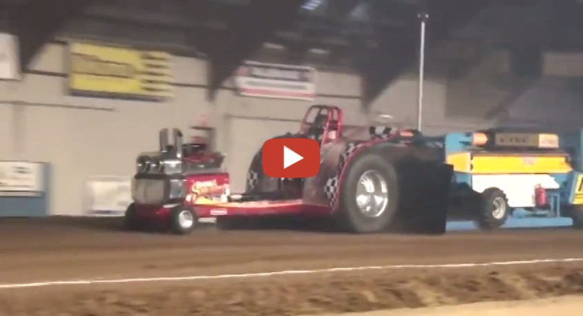 Tractor Pulling Accidents : Indoor tractor pulling accident