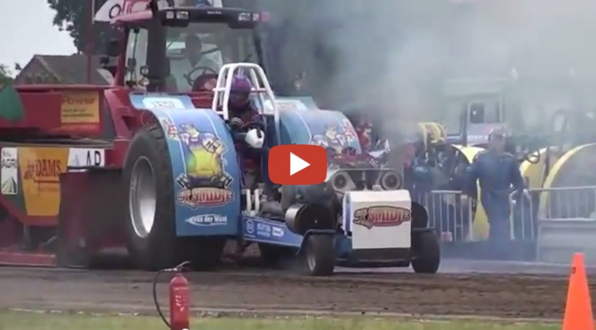 Engine SPLITS IN HALF During Tractor Pull Speed Society
