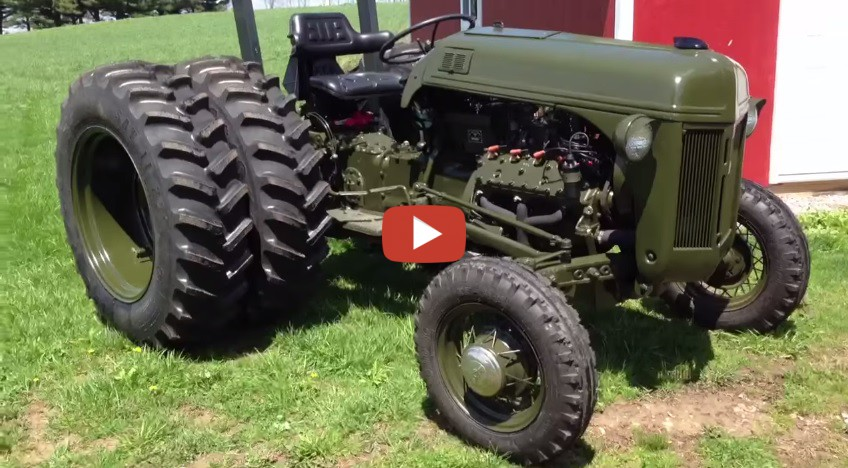 51 Ford 8n With Awesome Henry Conversion. Dual Rear Wheels. 110 Hp Flathead  V8.