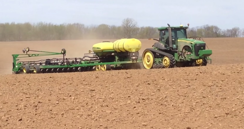 Tractor Track System : John deere tractor planter and combine on camoplast