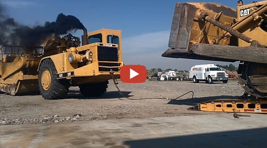 Cat Guts Pushing The D9 On The Lowboy And Tearing Down