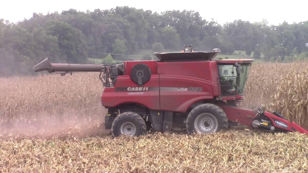 Axial Flow Combine : Case ih axial flow combine shelling corn
