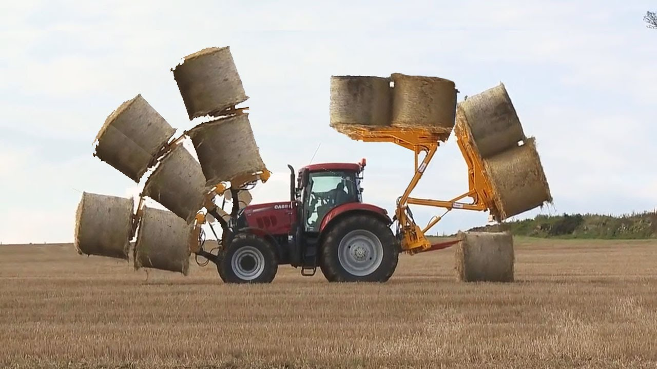 Awesome Tractor Loader Transformer Mega Bale Spear And