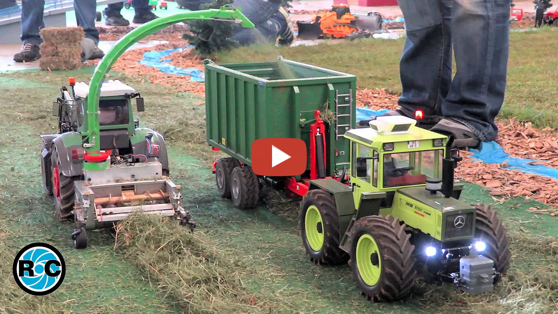 RC Tractors At Work