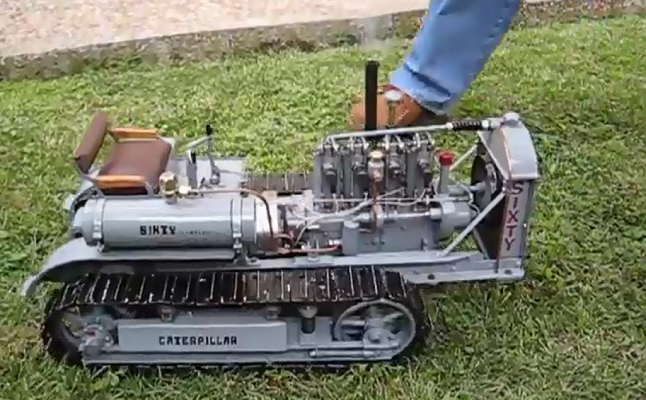 Small Homemade Tractors : Small homemade crawler tractor