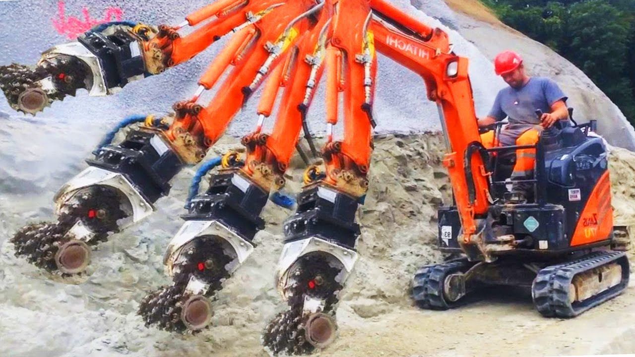 Extreme Machines Crushing Concrete And Steel Hydremagag