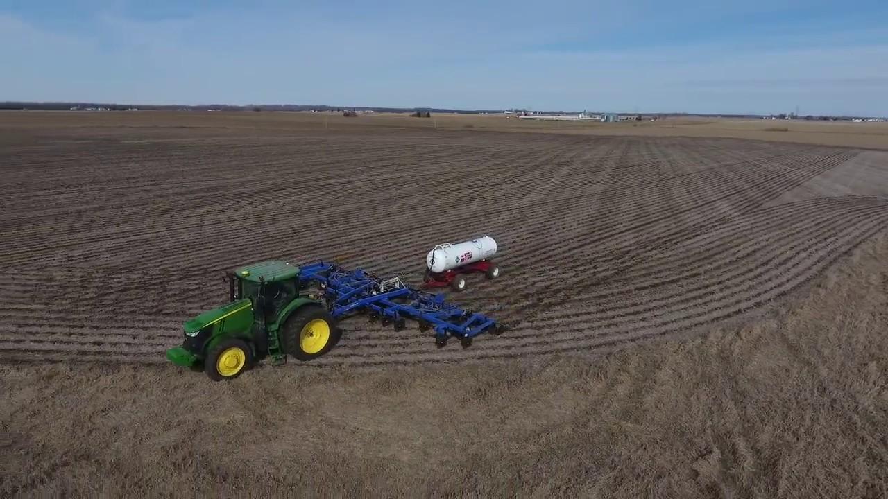 John Deere 7280 B And B Anhydrous Bar Farming In Iowa