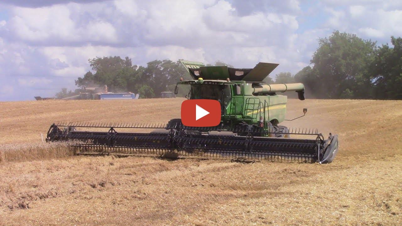 2017 Wheat Harvest with 8 John Deere S690 Combines ...