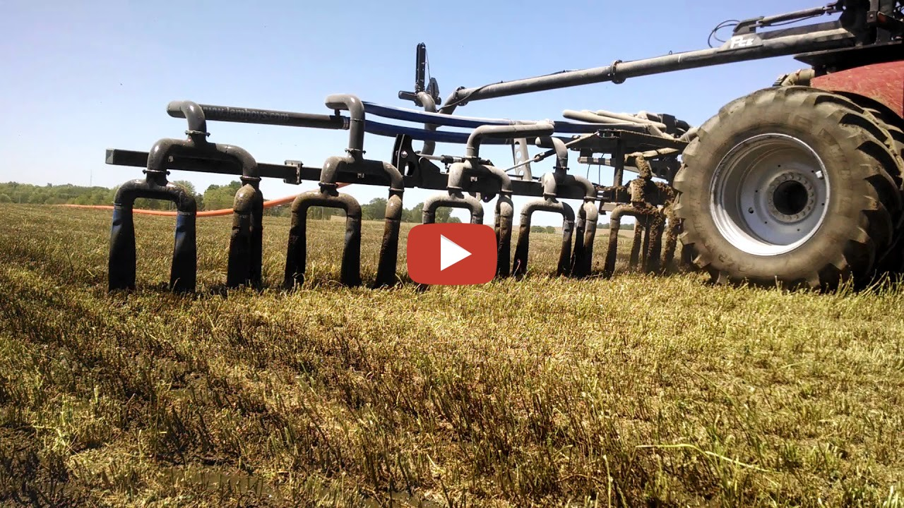 Liquid Manure Topdressing On Alfalfa With A Lemmenes