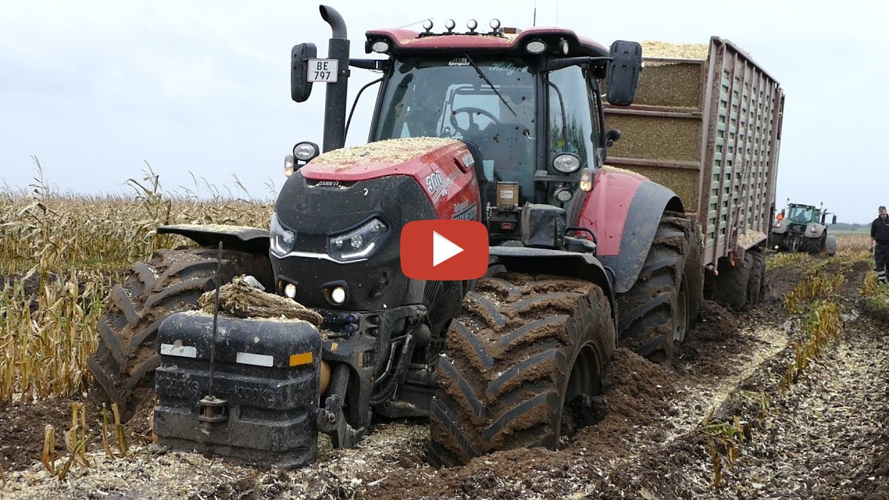 case ih 300 optum gets totally stuck in the mud during