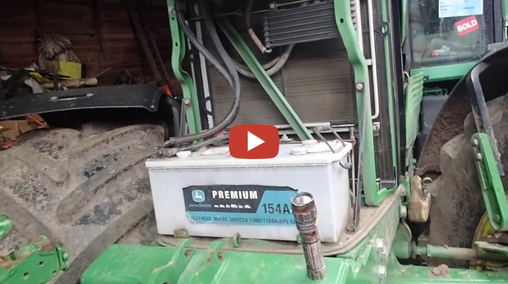John Deere 7530 Battery Revival And A Cold Strart