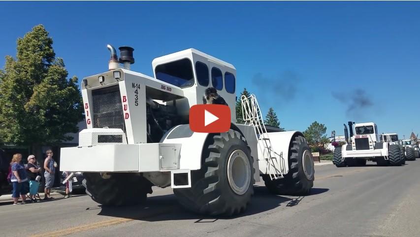 Big Bud Tractors Roar Down Shelby Montana Parade Welker