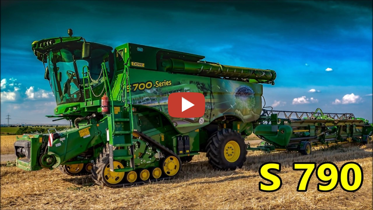 John Deere combine harvester: S-790 large [demonstration ...