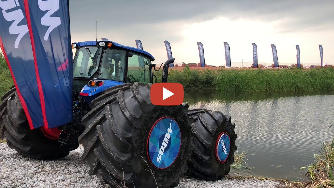 Floating Tractor At Farm Pr