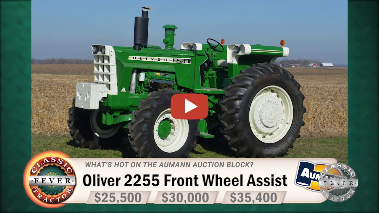 This Oliver 2255 Front Wheel Assist Sold On An Aumann Vintage Power  Auction. Can you guess what it brought? Classic Tractor Fever