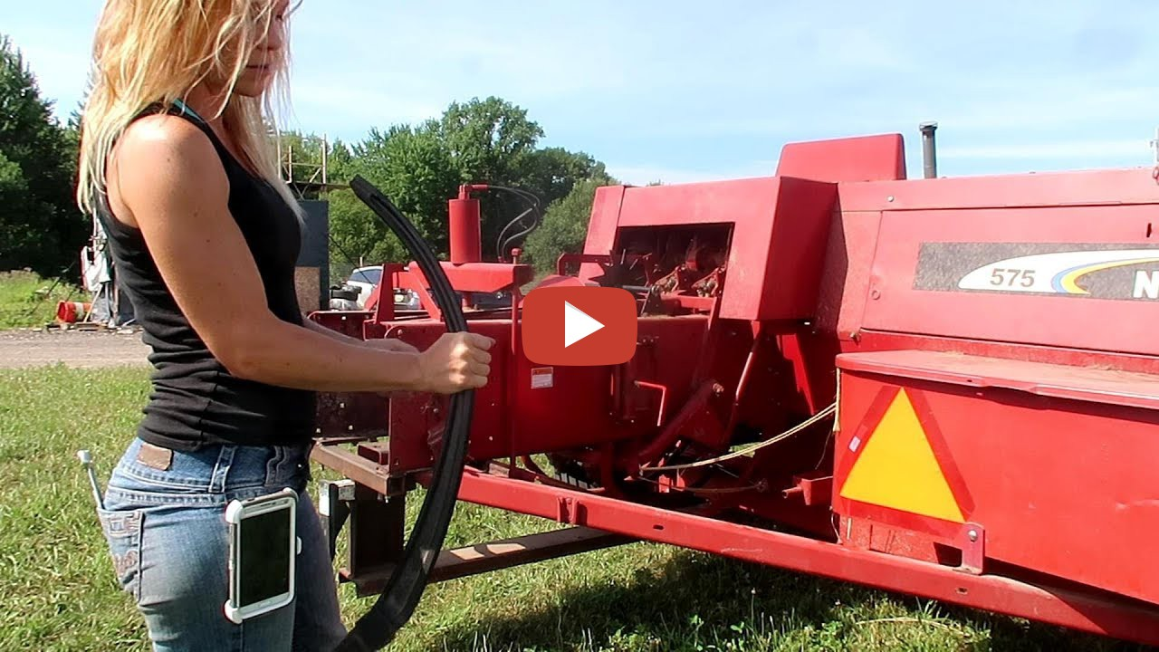 Wtfarm Girl -- Our New Holland 575 Baler Is Now Fixed -2094